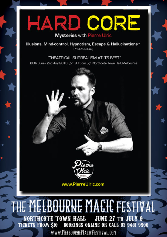 Hardcore Mysteries, Perth Magician, Melbourne Magic festival.